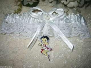 Garter SATIN BRIDAL WEDDING GARTERS RED BETTY BOOP