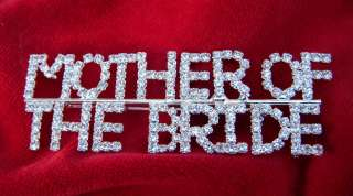 of the Bride Rhinestone Pin Great collectable wedding gift   2 3/4