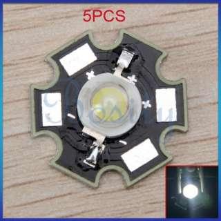 5pcs 1W High Power Bright Star LED Light Lamp Bulb (White) f Aquarium
