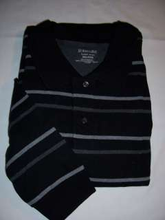 35 Mens St Johns Bay Black Sueded Polo shirt 3XL BIG