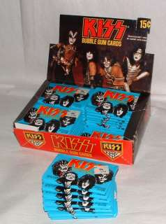 1978 DONRUSS KISS BUBBLE GUM CARDS FULL BOX OF UNOPENED PACKS 36CT