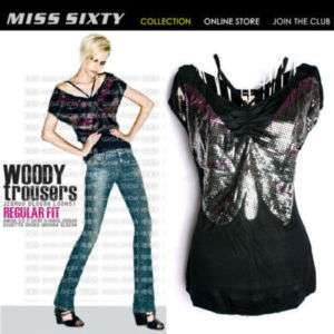 Stunning Butterfly MISS SIXTY Ladys Cool T shirt Top