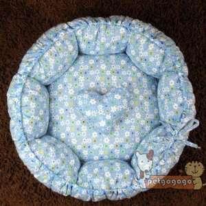 New Stye Cotton Handmade Pet Dog Cat Bed House Blue Pet