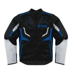 Icon Compound Hybrid Motorcycle Jacket Blue LG: Automotive