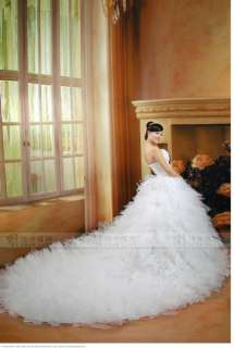 Quinceanera Ball dress wedding Bridal Dress Long Train Gown