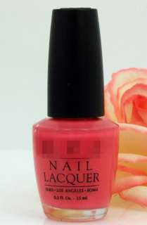 OPI Nail Polish Lacquer Great Barrier Reef Bright Pink NEW Free US