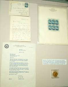 1952 Admiral Richard Byrd Signed Letter and Memorabilia