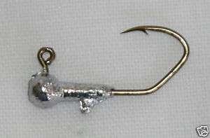 100 pk 1/64 oz Round Head Crappie Jigs Bz Sickle Hooks