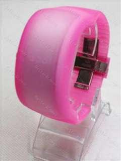 Silicone Jelly LED ODM Digital Bracelet Wrist Watch p