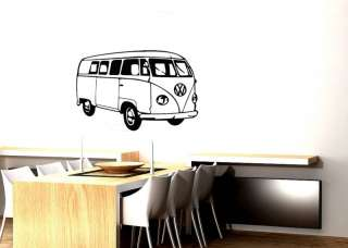 VW Camper Van Retro Cool Wall Art Vinyl Sticker/Decal