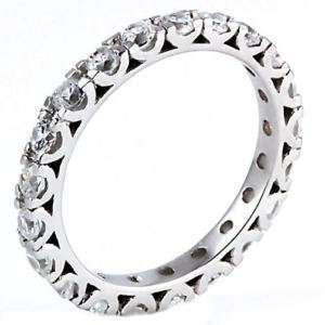 26ct Russian Ice CZ Stackable Eternity Band Ring s 7