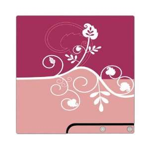 Sony PS3 Slim Skin Decal Sticker   Pink Abstract Flower