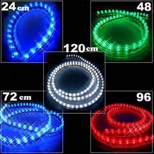 24 120 LED Strip Car Grill Light Flexible Acrylic Lamp