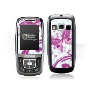 Design Skins for Samsung D600   Pink Butterfly Design