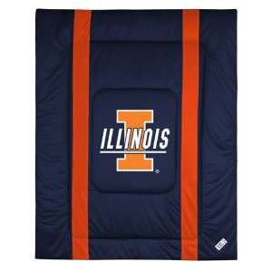 Illinois Fighting Illini Sidelines Comforter (Twin, Full