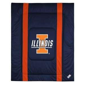 Illinois Fighting Illini Sidelines Comforter (Twin, Full