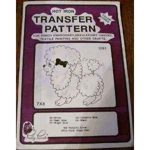 Hot Iron Transfer Pattern #1081 Toy Poodle (For Punch