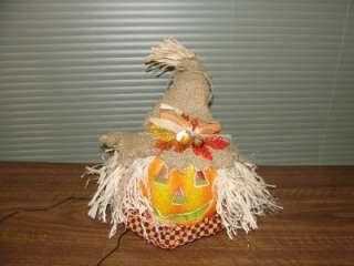 Color Changing Halloween Jack O Lantern Scarecrow Pumpkin Light