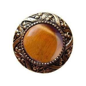 Victorian Jewel / Tiger Eye, 24K Gold Plate Beauty
