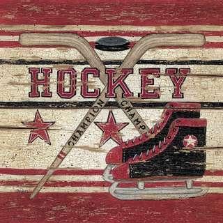 Hockey Kids Room Linda Spivey Framed Picture Print Art