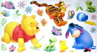 Disney Winnie the Pooh bear & Friends Cartoon funny Wall Stickers