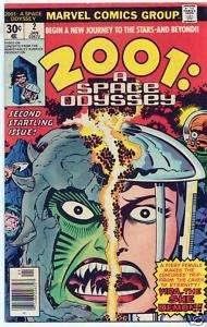 2001 A SPACE ODYSSEY Vol. 1 #2 Comic Book   Marvel