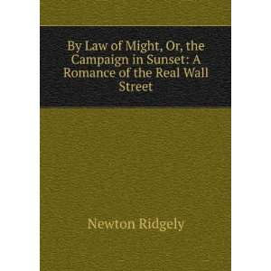 in Sunset: A Romance of the Real Wall Street: Newton Ridgely: Books