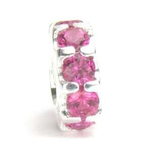 Moress Ruby Pink Cubic Zirconia Band, Made with Swarovski