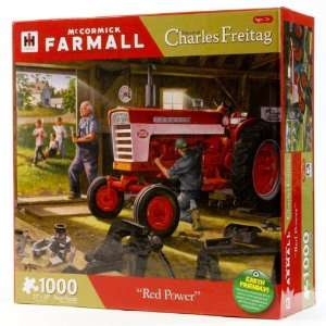 Red Power Tractor Puzzle by Charles Freitag Toys & Games