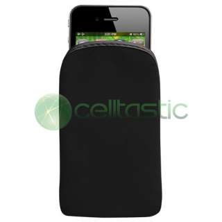 BLACK Soft Sock Case Skin COVER POUCH Accessory For APPLE IPOD TOUCH