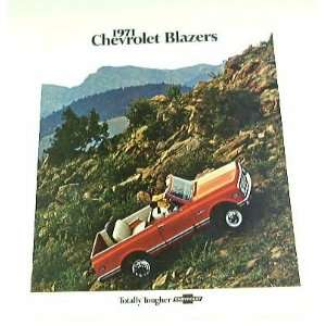 1971 71 Chevrolet Chevy BLAZER Truck BROCHURE 2wd 4wd