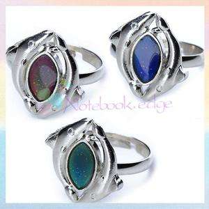 Magic Double Dolphin Mood Band Ring Color Changing Adjustable Size