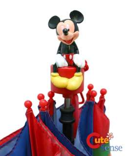 Disney Mickey Mouse Kids Umbrella w/Figure Handle