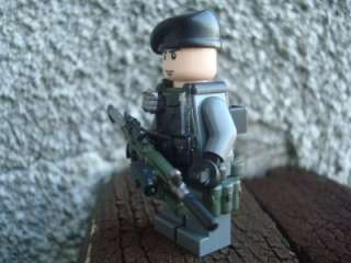 CUSTOM LEGO MINIFIG BATTLEFIELD SERGEANT CLARK M4 SOCOM