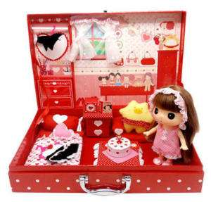 Lovely Cute Doll Figure DDUNG Mini Room Bag SET