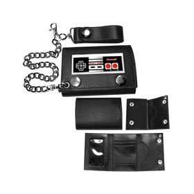 Nintendo Game Controller Black Wallet with Chain Shoes