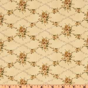 44 Wide House Of The Seven Gables Floral Cream Fabric By