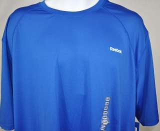NEW Reebok Hydromove Mens Short Sleeve Athletic Shirt Blue Size 2XL
