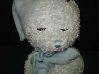 Blue Prayer Bear Plush Now I lay me down to sleep Toy JFP2 Pray