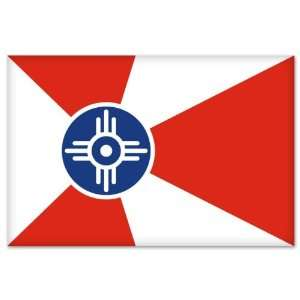 Wichita City Flag car bumper sticker window decal 5 x 3