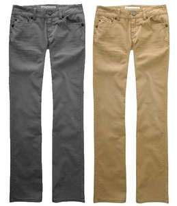AEROPOSTALE NEW Skinny Flare Corduroy JEANS Pants Womens (Gray or