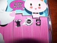 FASHION ANGELS interchangeable pet collar set cat dog rhinestone heart