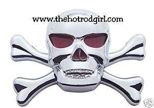 Skull and Cross Bones Chrome Emblem for Hot Rod