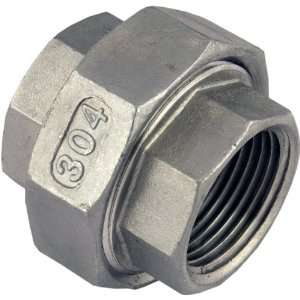 Female x 1 Female Stainless Steel NPT Pipe Fitting 304 SUS304 SS304