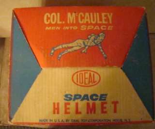 Vintage Col McCauley Men Into Space IDEAL Toy Space Helmet & Visor