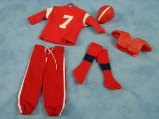 Vintage Ken Doll Clothes Barbie Mattel Football Baseball Accessories