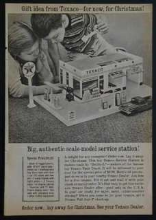 Buddy L Texaco Gas Service Station 1960 ad Dealer Promo