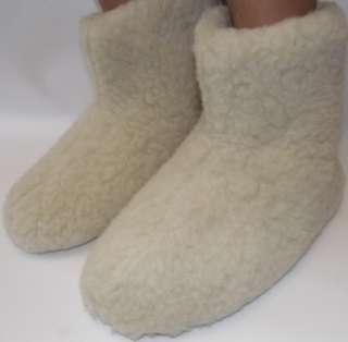 WOOLLY BOOTS/SLIPPERS 100% PURE SHEEP WOOL  FELT BOOTS 100% SHEEPS