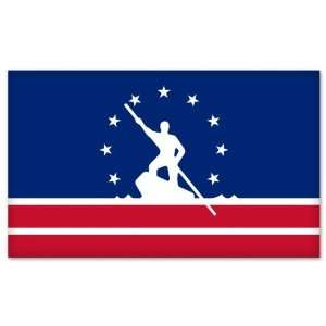 Richmond Virginia City Flag car bumper sticker window