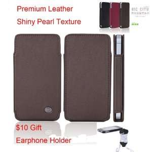 Rock iPhone 4 and iphone 4s Premium Leather Case   Pearl